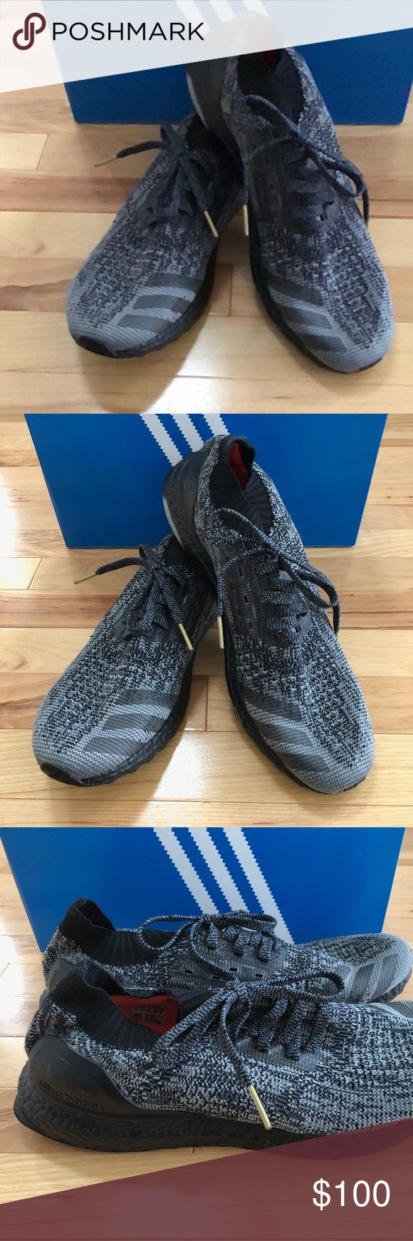 Adidas Mens Ultra Boosts Uncaged Adidas Mens Ultra Boosts Uncaged, size 12. Sneakers have been used for running on a treadmill indoors ONLY, about 150 miles. Bottoms have some wear and right inner shoe sole has small tear in material from pressure as shown in pictures. Price FIRM. adidas Shoes Sneakers