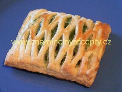 Mřížkové koláče se špenátem