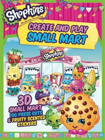 Shopkins Create and Play Small Mart Play Book