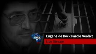 """Justice Minister Michael Masutha will announce on Thursday whether former apartheid-era police colonel Eugene de Kock will be granted parole. The minister is expected to make the announcement in Pretoria at 1130AM.De Kock was in charge of a police """"death squad"""" at Vlakplaas, outside Pretoria, and was arrested in mid-1994. He was convicted and sentenced in the High Court in Pretoria in 1996."""