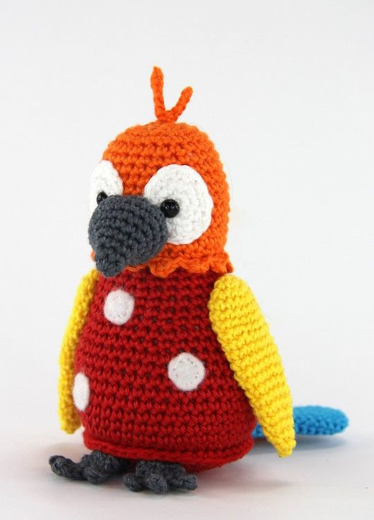 papegaaitje pico mini. gratis patroon stip en haak | dieren haken