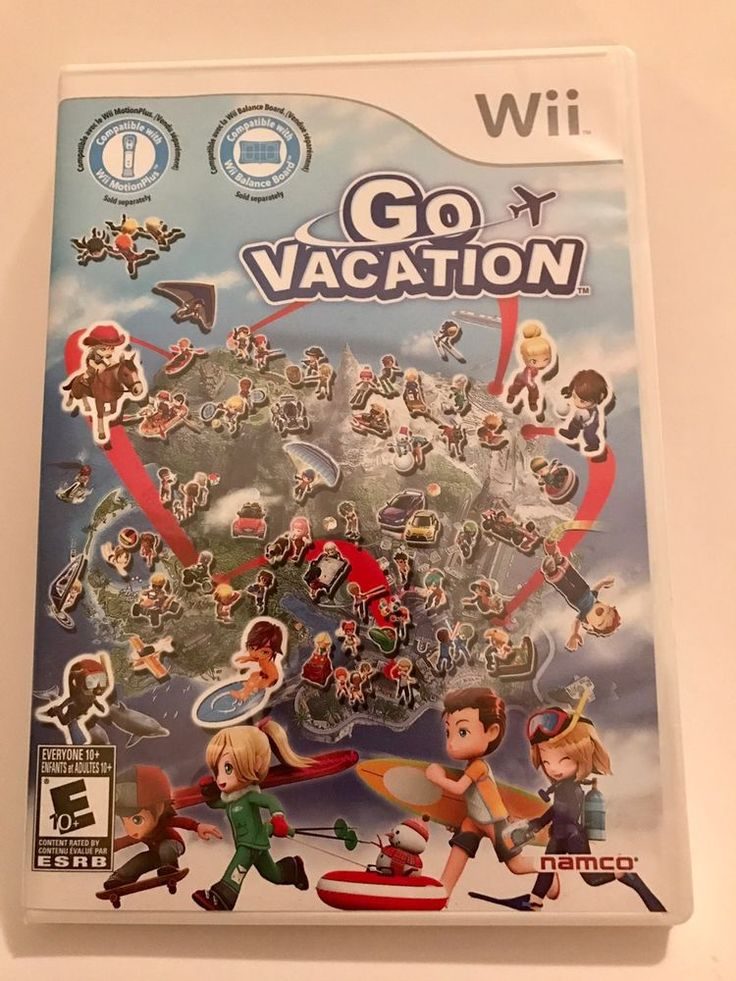 Go Vacation  --  Nintendo Wii Game Including Manual 722674800280 | eBay