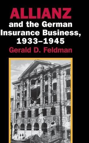 Gerald Feldman's history of the internationally prominent insurance corporation Allianz AG in the Nazi era is based largely on new or previously unavailable archival sources, making this a more accurate account of Allianz and the men who directed its business than was ever before possible.... more details available at https://insurance-books.bestselleroutlets.com/business/product-review-for-allianz-and-the-german-insurance-business-1933-1945/