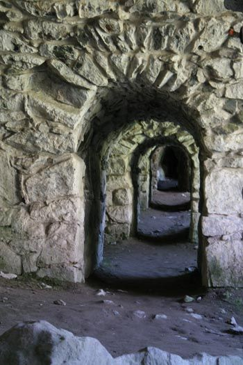Underground arches in Suomenlinna, Finland...how mysterious this would be...
