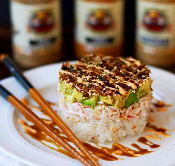 Flavor God Crab Salad Sushi Stack