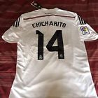 For Sale - Real Madrid Chicharito 14 Hernandez Mexico Home White Medium Playera Jersey  - http://sprtz.us/MadridEBay