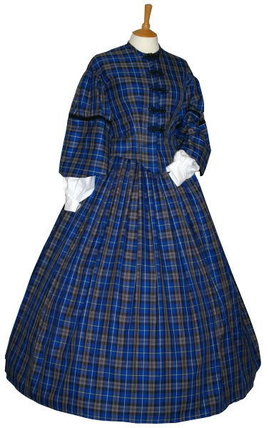VICTORIAN / AMERICAN CIVIL WAR DAY DRESS - £295.00 : Cornucopia Costume fancy dress and period costumes for men, woman and children, delivered throughout the UK, based in Stalybridge, Cheshire.