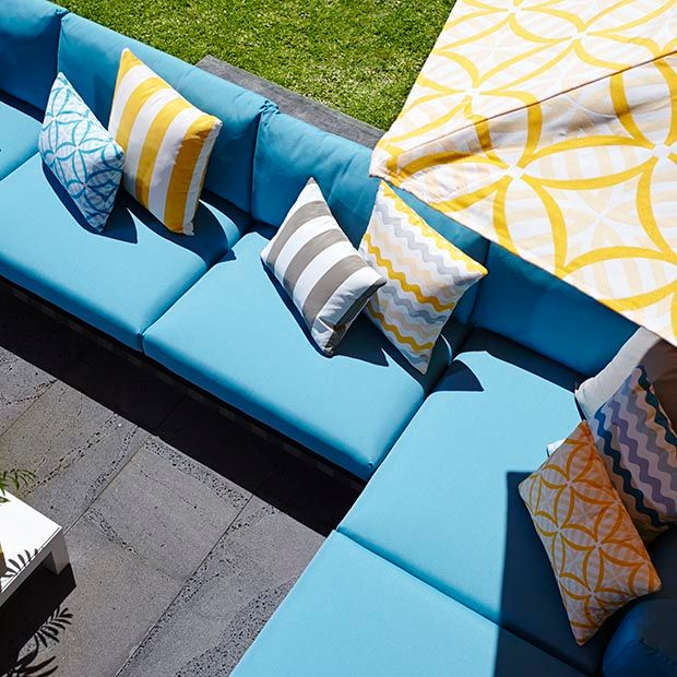 Warwick Fabrics, COOLUM OUTDOOR Collection- Kona fabric is rated as Heavy Commercial and is great for marine and outdoor use. Canvas Barn Marine Trimming  has samples you can see today!