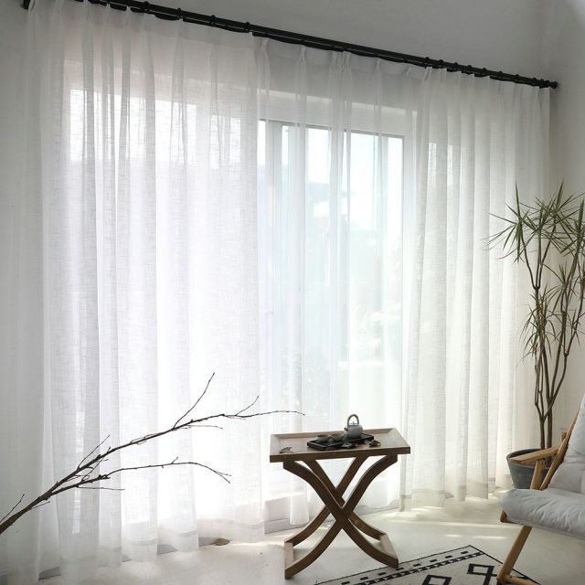 Minimalism White Curtain Solid Color In The Living Room Scandinavian Design Trends Have Best Home Decor Curtain Panels Living Room White Sheer Curtains White Curtains Living Room
