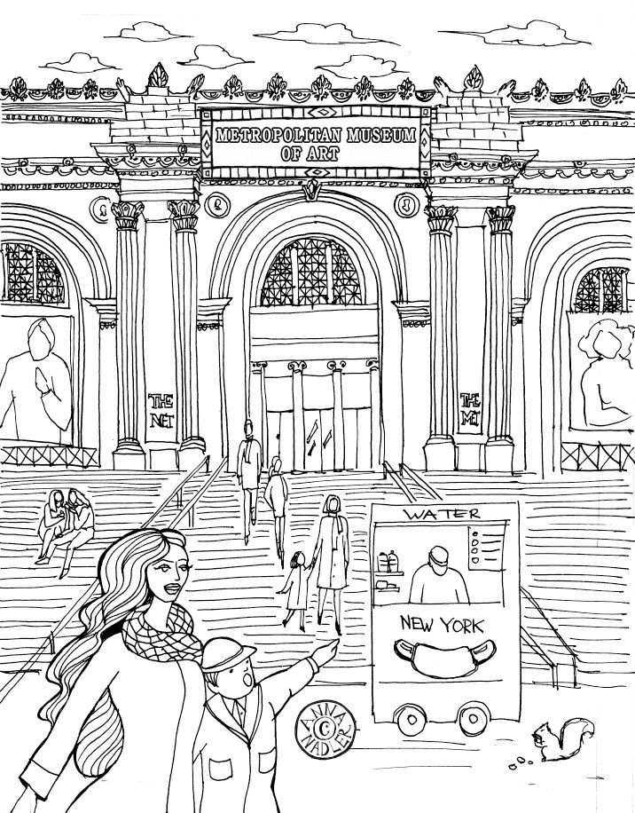 Metropolitan Museum Of Art Illustration From My Coloring Book Metropolitan Museum Of Art Metropolitan Museum Coloring Books