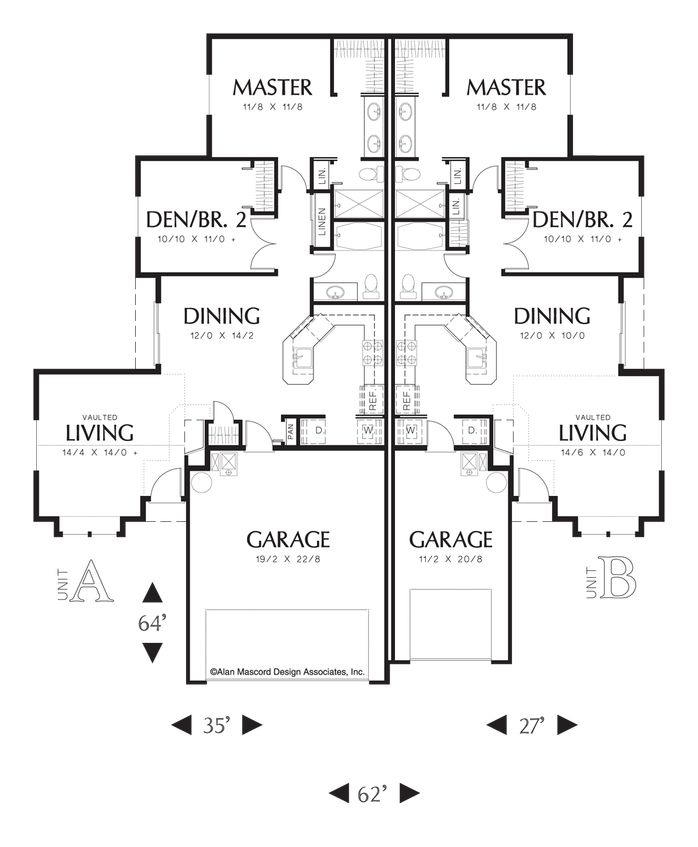 17 Best Images About Duplex Plans On Pinterest House