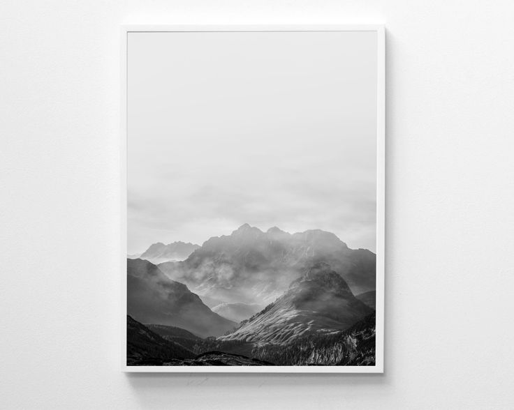 Mountains Print, Scandinavian Print, Mountains Poster, Black And White Wall Art, Minimalist Poster, Modern Printable Art by InnerWildPrints on Etsy https://www.etsy.com/listing/494564287/mountains-print-scandinavian-print