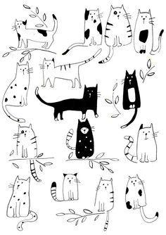 #illustrations #cats