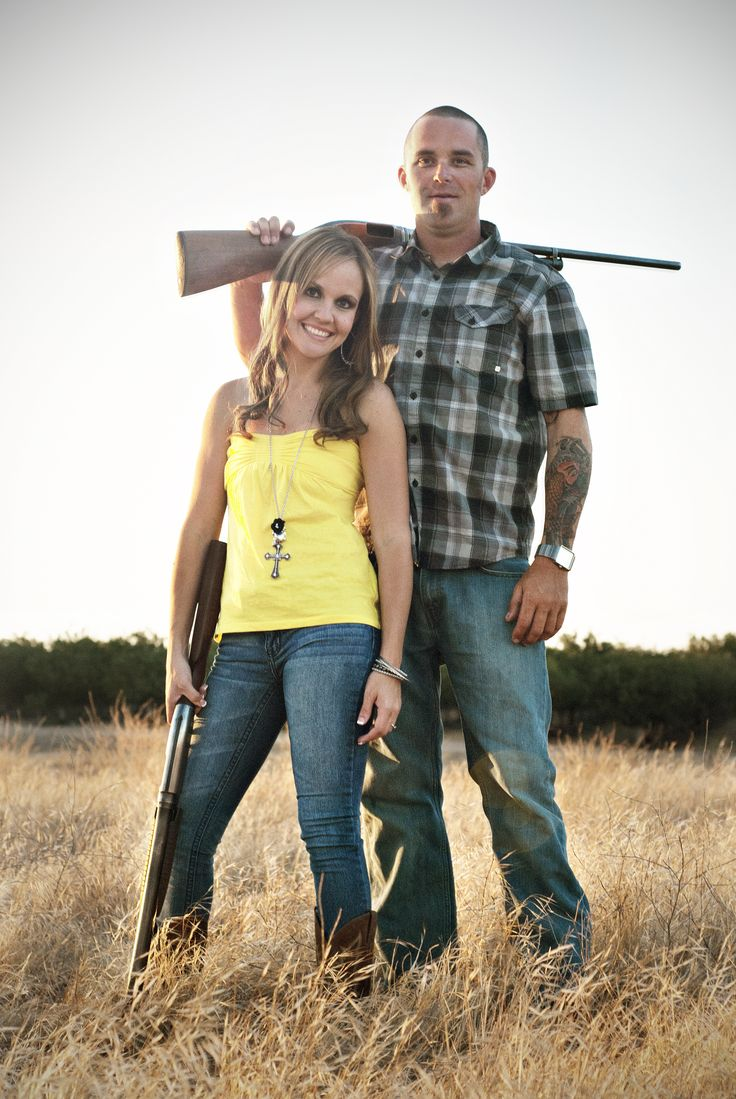 My real engagement photo / Handsome Husband / Country Love / Girls with Guns