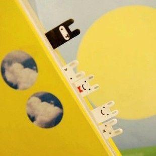 Encontrar Más Blocs de Notas Información acerca de Envío gratis lindo conejo blanco y negro Joran Mini Bookmark Notes mensaje mensaje Memo Pad, alta calidad bloc de notas de papel, China marcadores libres Proveedores, barato nota bloc de notas de House of Novelty en Aliexpress.com