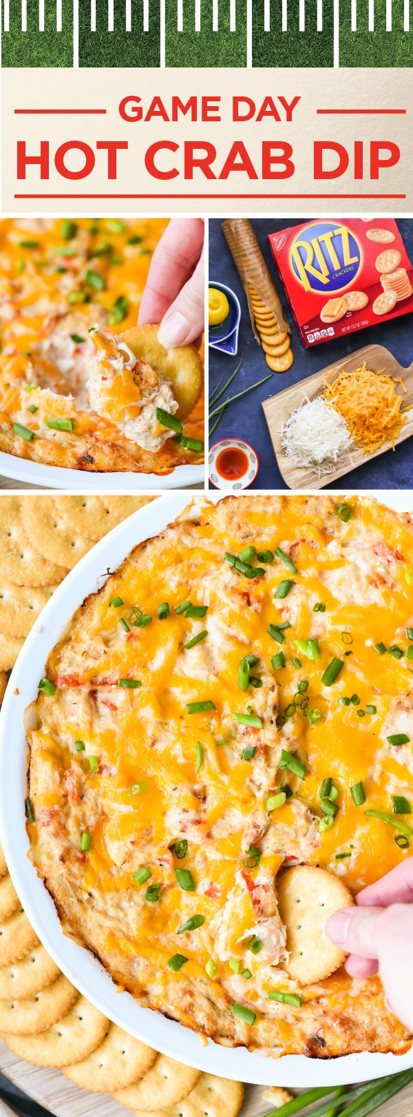 Irresistibly creamy, bold in flavor, with a sweet and tangy kick—this Hot Crab Dip has it all! To get delicious snacks in play, make sure to serve this combination of cream cheese, melted cheddar, crab meat, and hot peppers with RITZ Crackers for a game-winning appetizer idea. Before kickoff, head to Kroger to score all the ingredients you'll need to make your game day menu the best yet!