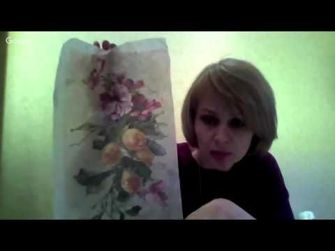 Н.Колосова. Имитация старой фрески - YouTube