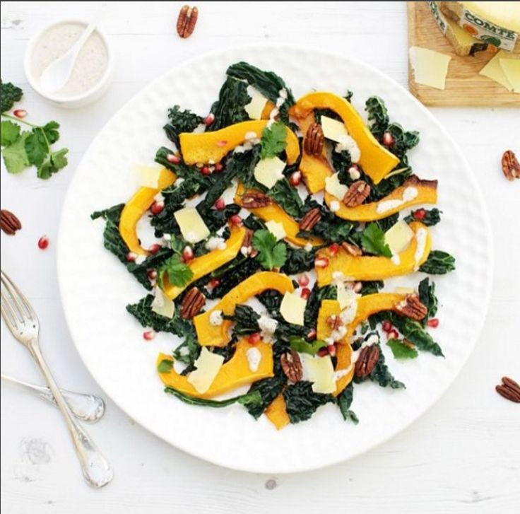 @theflexitarianuk grew up in the beautiful Franche Comté Region, so has a deep love for Comté cheese.  She's made this butternut, kale and Comté salad which makes a simple yet healthy autumnal dish. #Recipe on her blog!