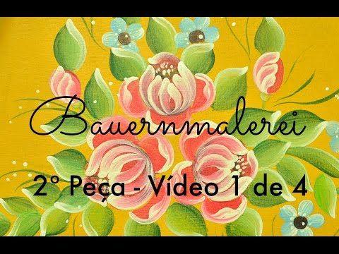 2° Peça em Bauernmalerei com Gina Pafiadache - (1 de 4) - YouTube