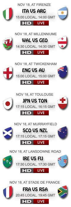 You can watch these Rugby matches free on this site, free rugby streaming will be available before 20 minutes of the kick off