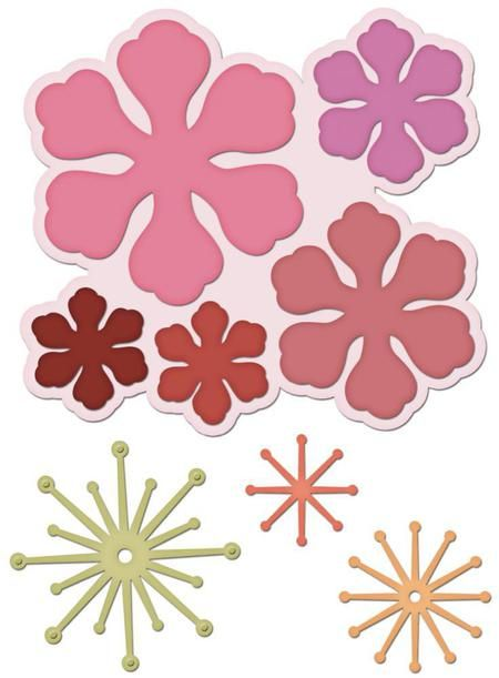 Flower Themed Dies, Embossing Folders, Punches - 123Stitch.com