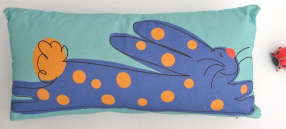 Cute Bunny pillow made in Maine by TroskoDesign on Etsy