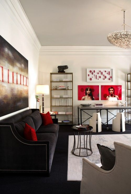 1000 ideas about black living rooms on pinterest black - Red black and grey living room ideas ...