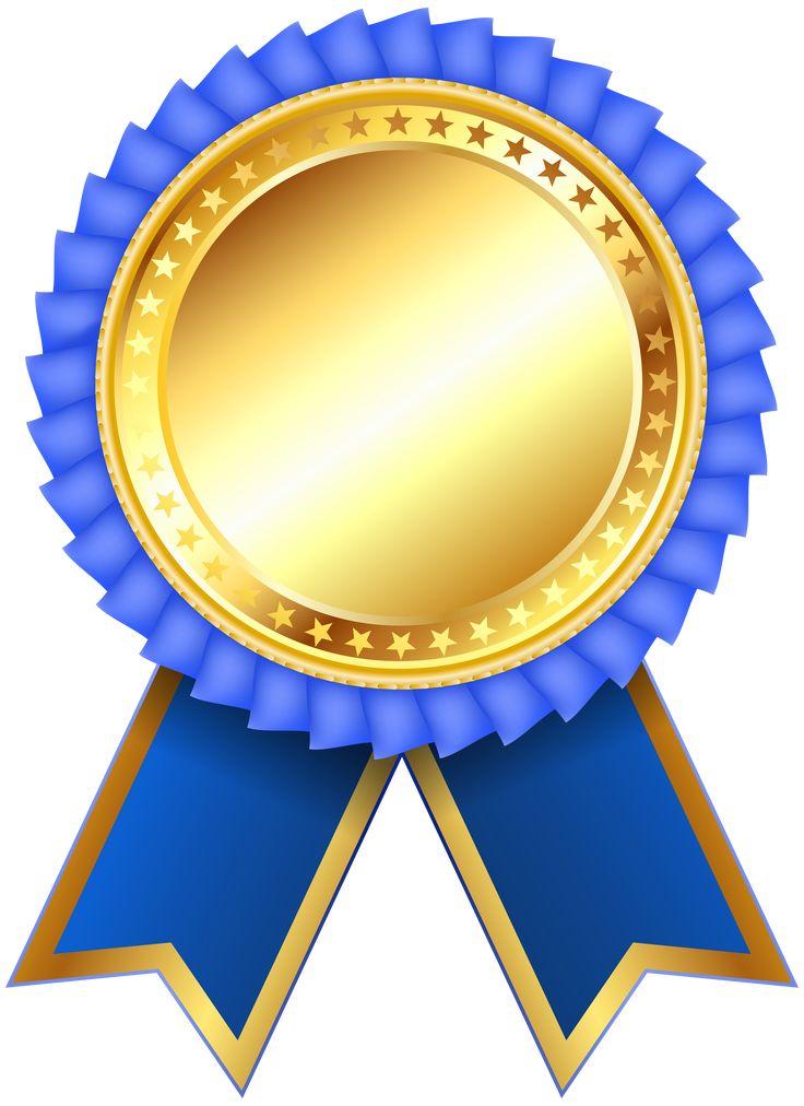 blue award rosette png clipar image