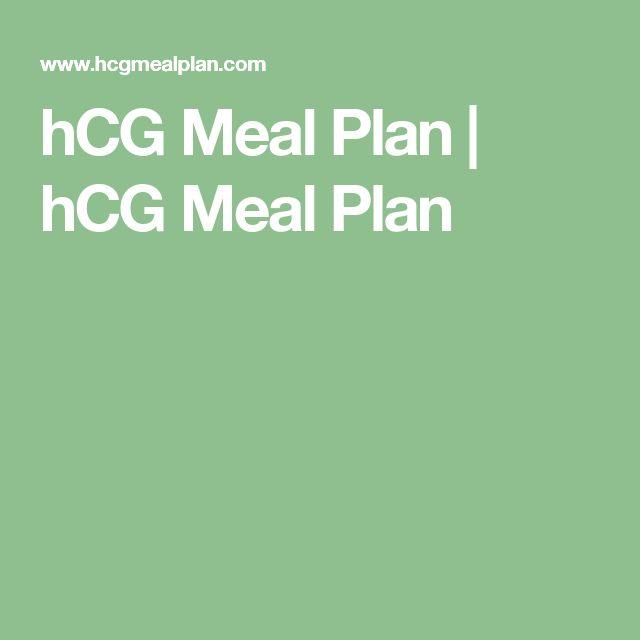 hCG Meal Plan   hCG Meal Plan