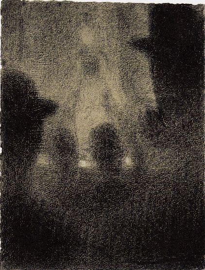 Au Concert parisien, 1887-1888 Crayon conté et craie blanche - 31,5 x 23,7 cm Cleveland, Museum of Art