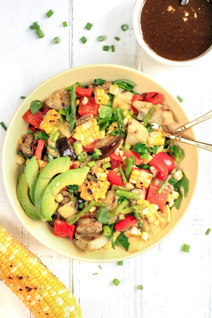 Grilled Veggie Salad with Balsamic-Dijon Dressing Recipe Recipes
