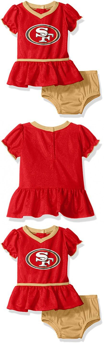 NFL San Francisco 49ers Girls Football Dress with Diaper Cover, 3-6 Months, Red