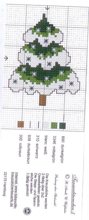 X-stich Christmas tree