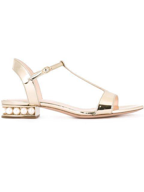 Shop Nicholas Kirkwood 18mm 'Casati' T-bar sandals.