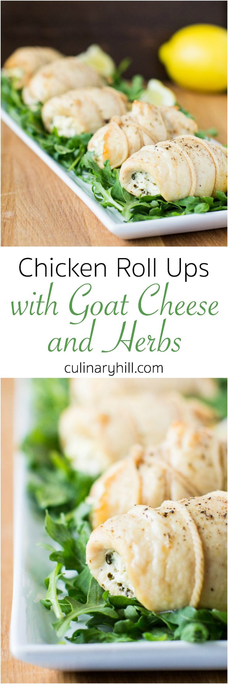 Chicken Roll Ups with Goat Cheese and Herbs are elegant enough for a ...