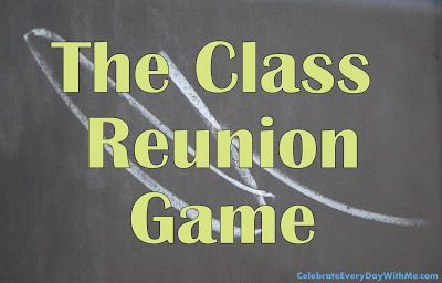 What makes this class reunion game so clever is not just the questions asked but the prizes handed out...& it was fun to learn what everyone has been up to.