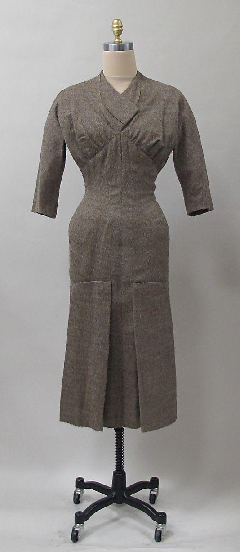 Dress Charles James (American, born Great Britain, 1906–1978) Manufacturer: (sample made for) Samuel Winston Date: 1952–54 Culture: American Medium: mohair