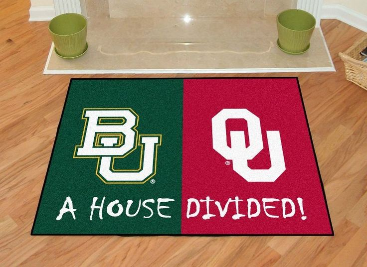 Baylor - Oklahoma College House Divided Mat