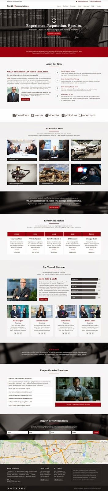 Associates Lawyer and Attorney One Page Joomla Template: This One page #Joomla theme is perfect for #lawyers, attorneys, counselors, law offices and law firms. #website