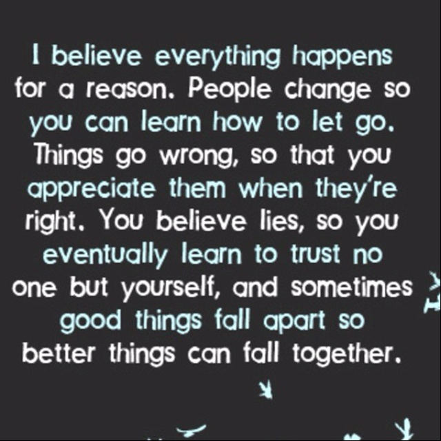 things happen for a reason quotes quotesgram