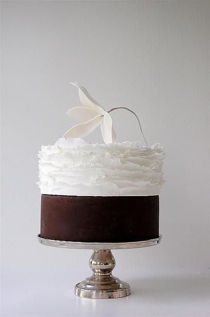 Maggie Austin Cake, chocolate & vanilla, elegant, minimalist