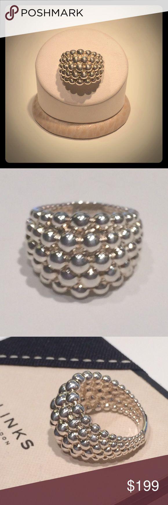 Venture mens black leather bracelet men bracelets links of london - Nwt Links Of London Silver Effervescence Ring Boutique