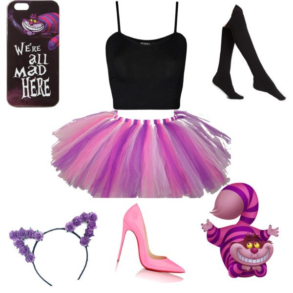 Cheshire Cat Costume by mizaelp on Polyvore featuring WearAll, Plush, Christian Louboutin and Disney