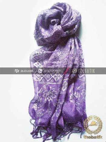 Selendang Batik Murah Grosir Warna Violet | #Indonesia #Batik #Scarves Shawl Wholesale http://thebatik.co.id/syal-selendang-batik/