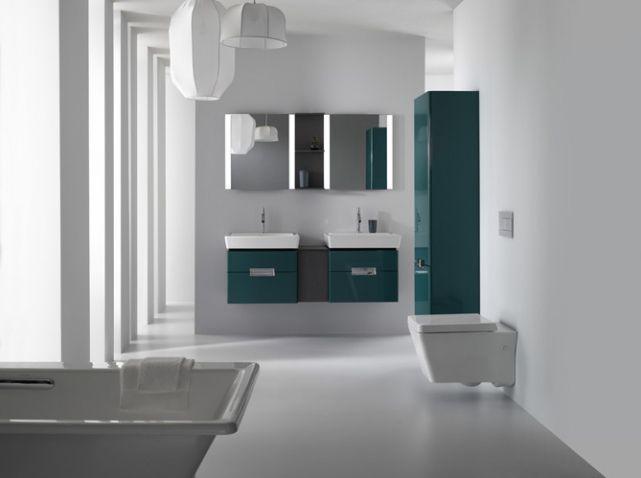 Salle de bains bleue #delafon