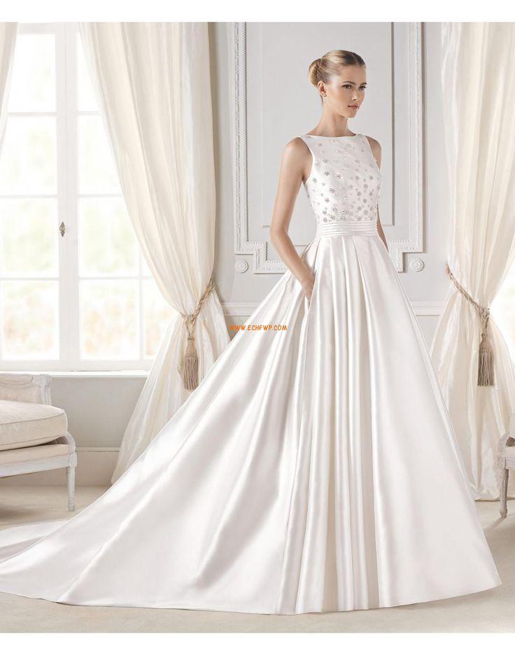A-linje Brudklänningar med Bolero Bärlbroderi Bröllopsklänningar 2015