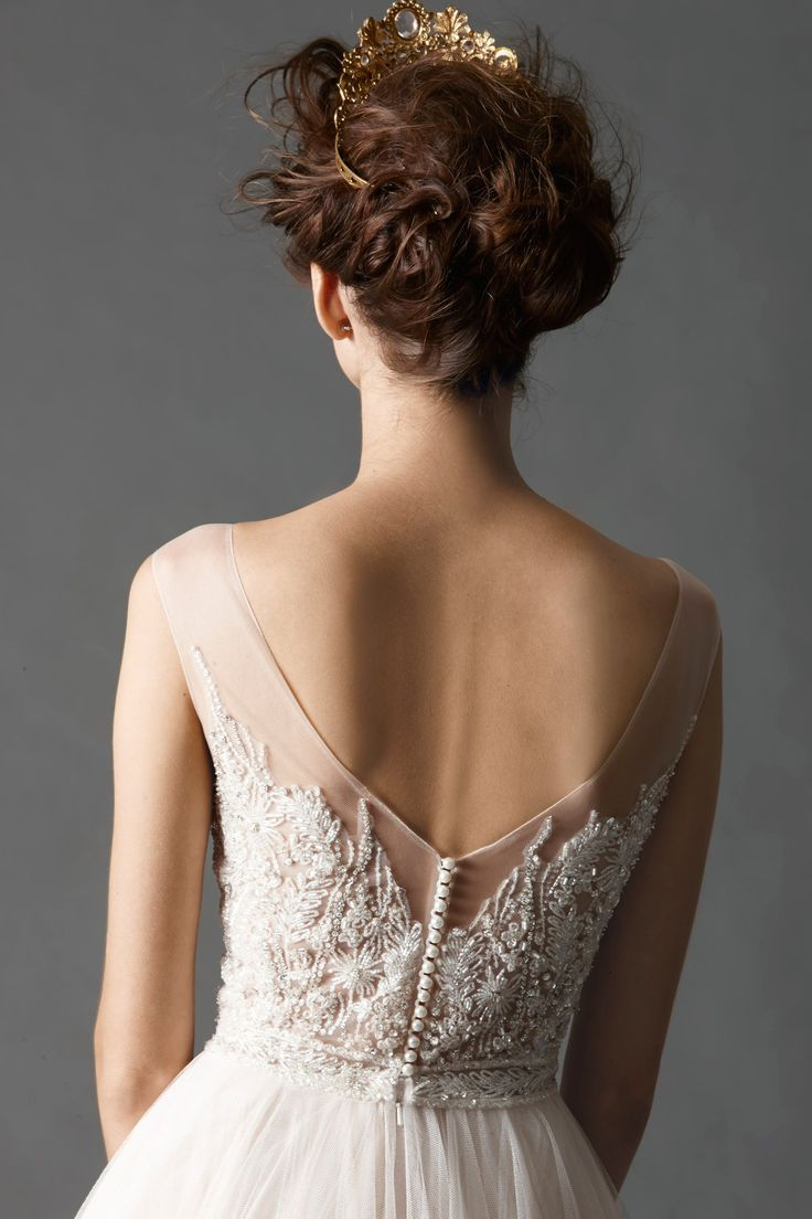 Back View Watters Brides Kaliah Gown