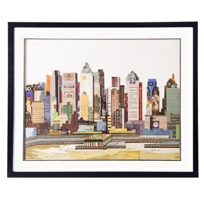 Obraz przestrzenny New York A to przepiękne i barwne ujęcie architektury Nowego Jorku, wyraziste kolory.