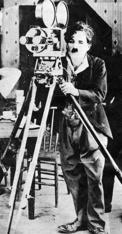 """On set of """"Sunnyside"""" (1919) Chaplin Studios"""