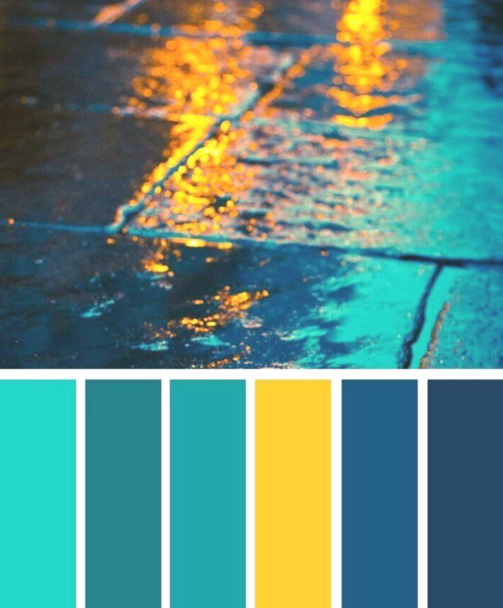 Dark Blue Teal And Yellow Color Palette Color Palette Yellow Genel Blue Color Dark Color Palette Yellow Blue Colour Palette Bedroom Color Schemes